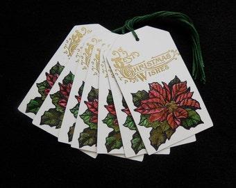 Poinseitta- Christmas - Gift/Hang Tags (10)