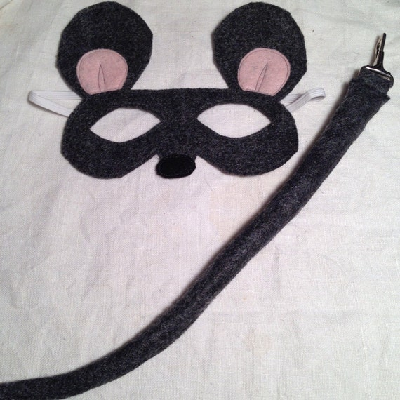 Mouse or Rat Mask and Tail Set