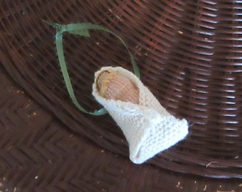 Knitted Baby Jesus Christmas Ornament