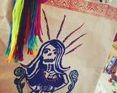 Screen print tote bag - Day of the Dead