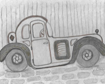 original sketch in pencil this is for a print of the original 8 by 10 inches.on heavy cardstock