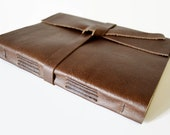 LINED Pages Large Leather Journal Notebook Chocolate Brown