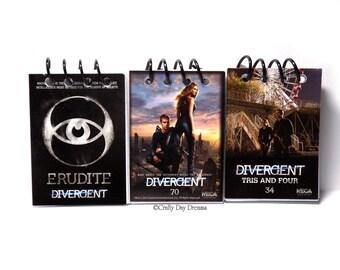 Divergent Upcycled Trading Card Notebook Sketchbook