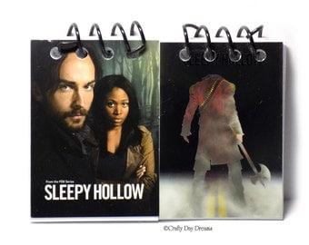 Handmade Sleepy Hollow Trading Card Sketch Notebook Ichabod Crane and Abbie Mills