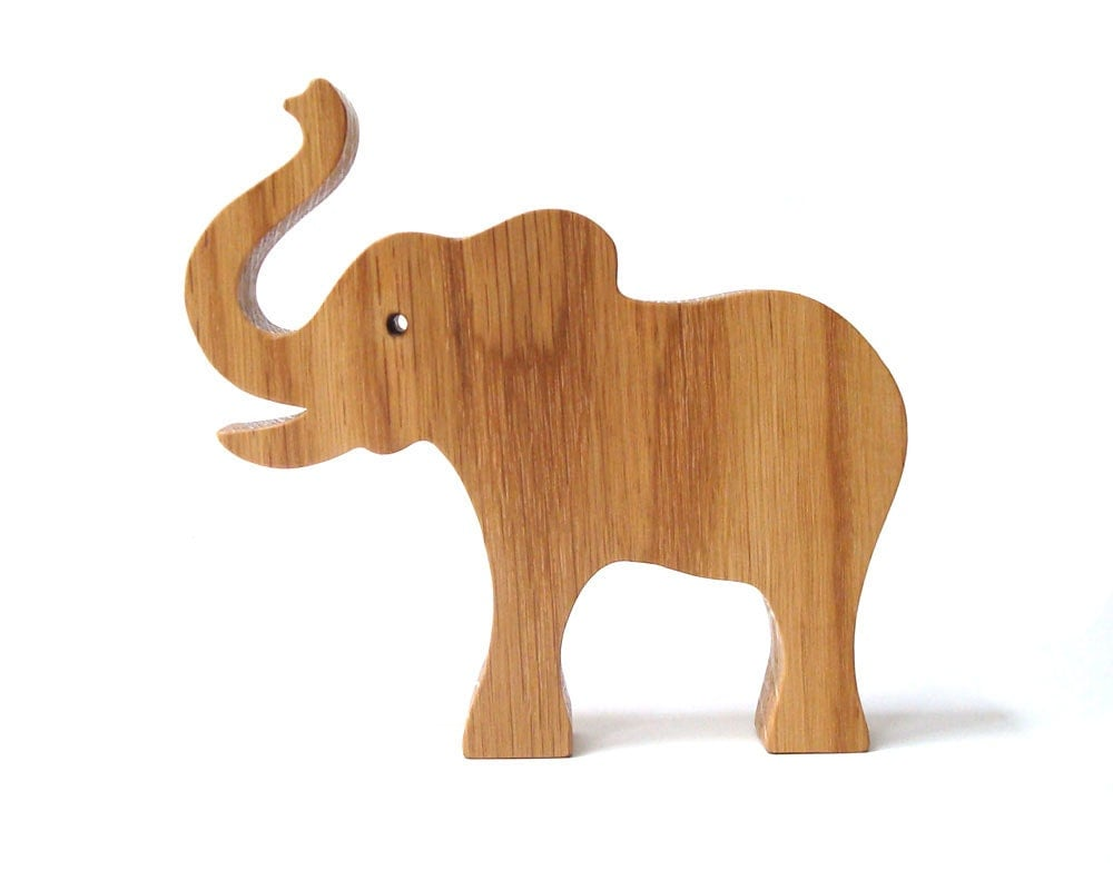large wood elephant toy wooden wild animal toy waldorf wild. Black Bedroom Furniture Sets. Home Design Ideas