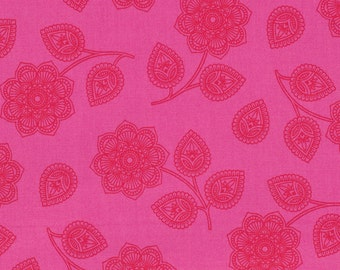 Eden - Henna in Cerise by Tula Pink for Freespirit Fabrics