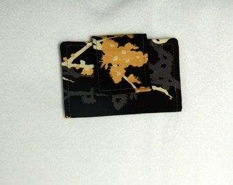 Wallet - Aviary, Black and Gray Business Card Holder / Small Wallet