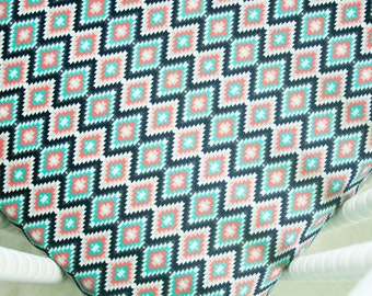Sale, Kilim Crib Sheet - Kilim in Shadow - Fitted Crib Sheet - Gender Neutral Crib Sheet