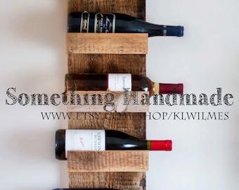 Wine rack barn wood reclaimed 1892 wood