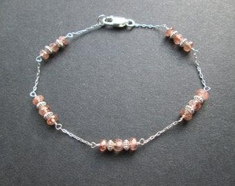 Rare andalusite gemstone bracelet