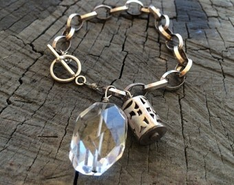 Crystal and Balinese Silver
