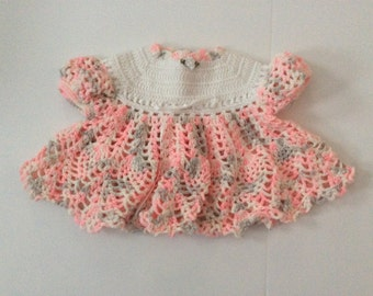 Dress pink and white variegated  size 0-3 months