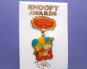 Aviva 1970's Snoopy Awards Pin World's Greatest Party-Goer