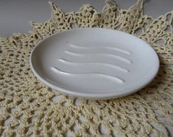 White round soap dish