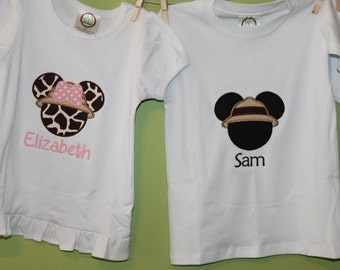 Safari Mickey or minnie Mouse Shirt