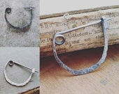 Forged Sterling Silver Fibula Sweater or Shawl Brooch, Pin. For the Wanderer. Boho Jewelry