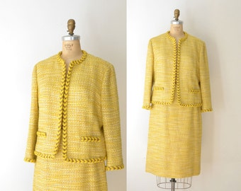 1960s Handmacher Suit / 60s Classic Wool Skirt Suit