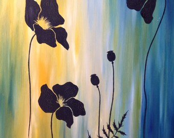Black Poppies - Digital Download Print