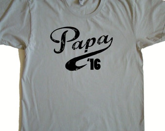 Papa gift - Papa '17 Tee shirt - New Papa gift- You Pick year- Father's day gift
