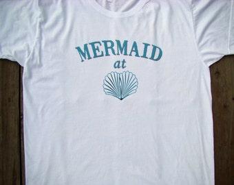 Mermaid at Heart shirt - American Apparel Power Wash Tee -XS, S, M,L,XL (2 color choices)