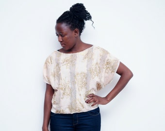 Gold floral top