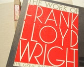 1965 The Work of Frank Lloyd Wright The Great Wendingen Edition Fabric Hardcover in Slipcase Double-Fold Pages Specially Hinged Binding