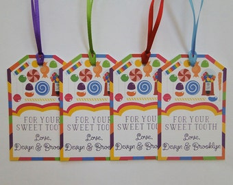 Sweet Shop Favor Tags - Candy Land Tags - Sweet Shop Party - Favor Tags - Thank You Tags - Candy Party - Sweet Shoppe Favor Tags - Gumballs