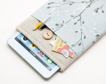 50% OFF SALE iPad Mini Case with button closure. Padded Cover for iPad Mini 1 2 3 4. iPad Mini Sleeve Bag.