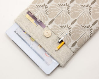 50% OFF SALE iPad Case with flowers pocket and button closure. Padded Cover for iPad Air 1 2. iPad Air Sleeve Bag.