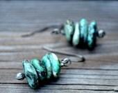 Turquoise Earrings, Turquoise Drop Earrings, Turquoise Dangle Earrings, Turquoise Gemstone Earrings, Boho Earrings, Handmade Earrings (2398)