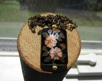 Vintage Gold Filled Necklace and Puffy 3D Flower Pendant Ladies Womens