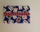 Playing Cards Fabric Tissue Holder