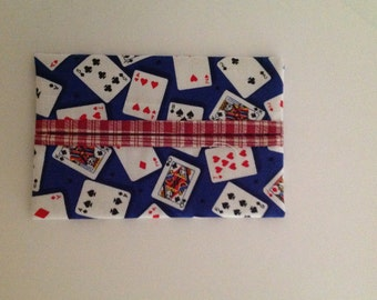 Playing Cards Fabric Tissue Holder FREE SHIPPING