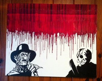 Horror melted crayon art painting