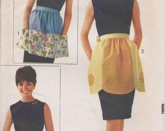 Apron Pattern Vintage 3 Styles Half Apron Pattern 1960's Sew Easy Advance 3056