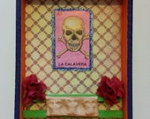 Day of the Dead / dia de los muertos / loteria Mini Shrine Shadow Box