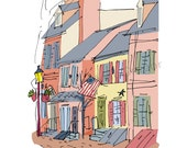 Philadelphia: Historic Houses fine art print 2 sizes