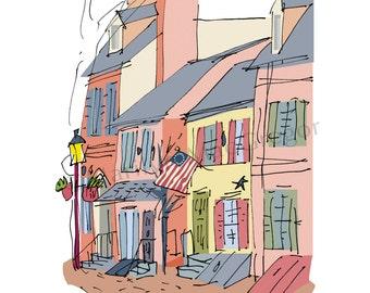 Philadelphia: Historic Houses fine art print 2 sizes