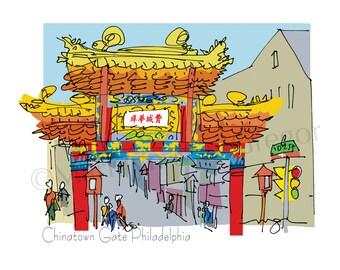 Philadelphia: Chinatown Gate fine art print 2 sizes