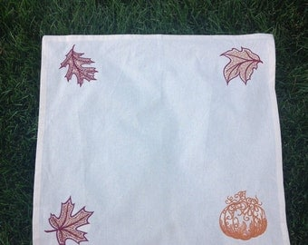 Embroidered Mabon Tarot/Altar Cloth