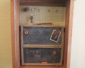Chalk/Magnet Board from Repurposed Vintage Drawer and Paint Box