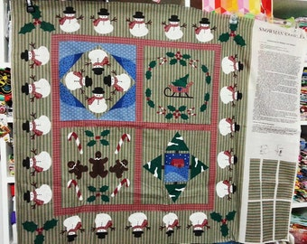 SALE Fabric Destash Christmas Panel Country  Sampler- Below Cost-Need to Clean Out My Studio!