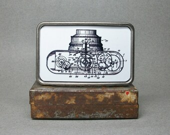 Belt Buckle Vintage Camera Patent Metal Cool Gift for Men or Women