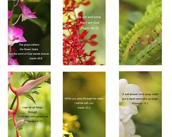 Bible verse book mark instant download