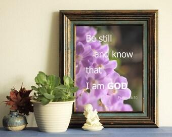 Bible verse home decor print decor wall art  purple orchid instant download