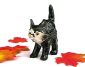 Goebel West Germany Halloween Cat Figurine / Cat with Arched Back / Hummel Halloween Cat / Scaredy Cat Kitten