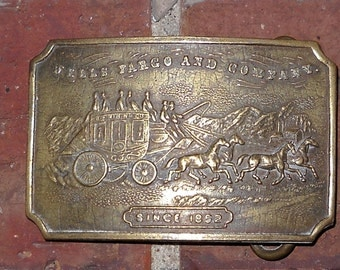 Wells Fargo and Company Belt Buckle