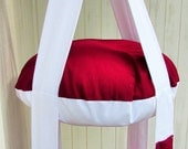 Cat Bed Double, Cranberry Red & White Double Kitty Cloud,  Hanging Cat Bed, Pet Furniture, Gift