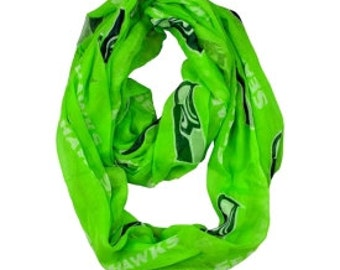 Green Sheer Infinity Scarf