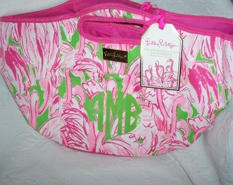 Personalized Lilly Pulitzer FIRST COLONY Cooler Beverage Bucket Tote